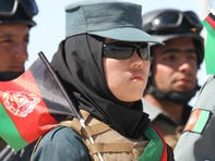 Security forces in Herat attend the 100th anniversary ceremony of Afghan independence on Aug. 19, 2019.