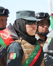 In Herat on Aug. 19, 2019, security forces attend the 100th anniversary ceremony of Afghanistan's independence from Britain.