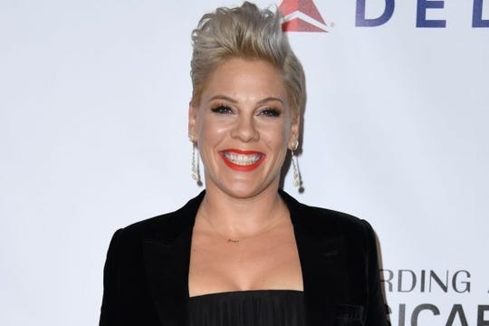 Pink challenges critics, mom-shamers to stop for one day. Hubby Hart calls it a 'long shot'