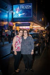 "Asbury Park Press staff writer Ilana Keller and her sister Shanna Polan (left) at ""Frozen"" on Broadway."