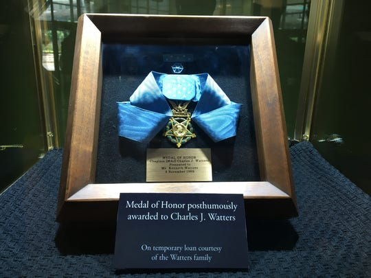 Medal of Honor awarded to Charles Watters, on display at the NJ Vietnam Veterans' Memorial in Holmdel