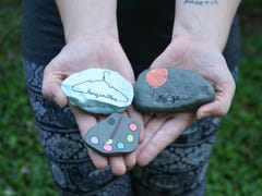 Those painted rocks around Battle Creek are part of a kindness project