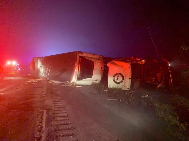 A stretch of I-81 North in Cortland County is partially closed Tuesday morning after a tractor trailer crash.