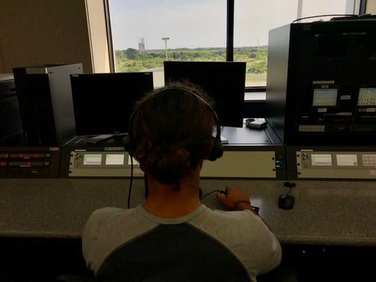 This is Connor Murphy's view of the launchpad from his front row seat at ULA's Delta Launch Control.