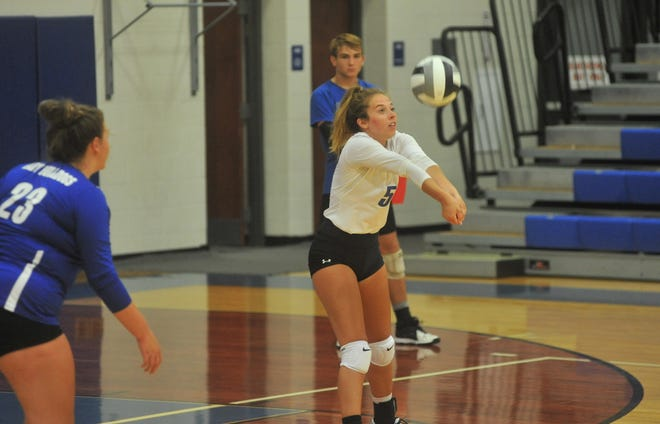 Lauryn Tadda earned first team all-league honors in volleyball this year.