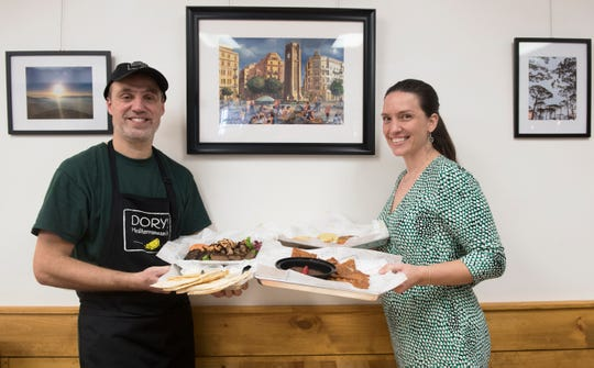 Chef Dory Chamoun and his wife Christine Chamoun are co-owners of Dory's Mediterranean Grill in Medford.