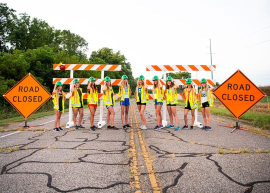 Girls Cross Country is back in the Scioto Valley as area runners refuse to be stopped this upcoming season for their school's team. (L-R) Paint Valley's Riley Walls, Westfall's Kylee Henry, Waverly's Sarah Crabtree, Unioto's Indy Spetnagel, Southeastern's Klaire Powell, Chillicothe's Laikin Tarlton, Zane Trace's Hannah Kerr, Adena's Maddie Huff, Piketon's Kenzie Mays, and Huntington's Cindy Hopkins. Photo taken on Lowery Lane with cooperation with Kathleen Fuller of the Ohio Department of Transportation (ODOT).