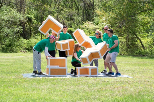 Block By Block is one of many brain games featured throughout The Puzzle Dash, which will take place Sept. 28 at Thompson Park in Monroe. Register at thepuzzledash.com/.