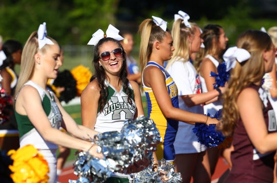 GMC cheerleaders at Snapple Bowl XXV in 2018