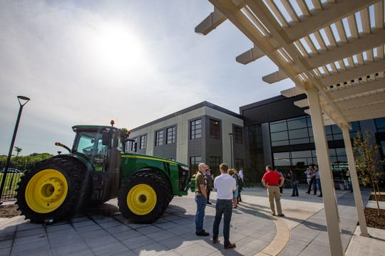 John Deere gives a tour of the new Intelligent Solutions Group Facility in Urbandale Tuesday, Aug. 20, 2019.