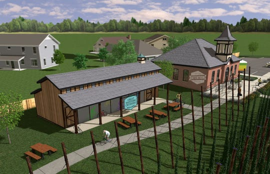 "A couple acres of hops will be grown at the brewery slated to go into the  renovated schoolhouse in Cumming. It's  part of the $260 million ""agrihood"" under development there. The name of the brewing company hasn't yet been released."