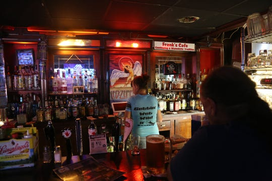 Much of the bar at Frank's Cafe in Wyandotte remains as it has for nearly 100 years.