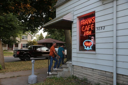 Located in a residential neighborhood, Frank's Cafe in Wyandotte was originally built as a farm house shortly after the Civil War. It has been operating as a licensed bar since at least 1935, though it was a blind pig during Prohibition.