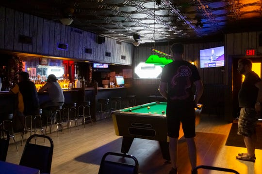 The interior of Wyandotte's Gold Star bar recently received new floors and a fresh paint job. The 96-year-old bar is Wyandotte's oldest.