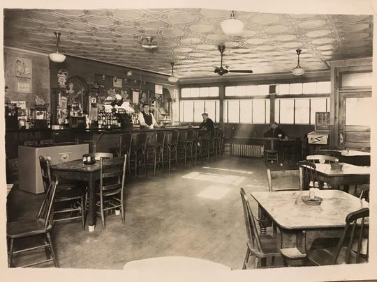 A historical photo, thought to be from the early 1930s, of the interior of the Gold Star Bar. Founded in 1923 as a pool hall and blind pig, the Gold Star is the oldest drinking establishment in Wyandotte.
