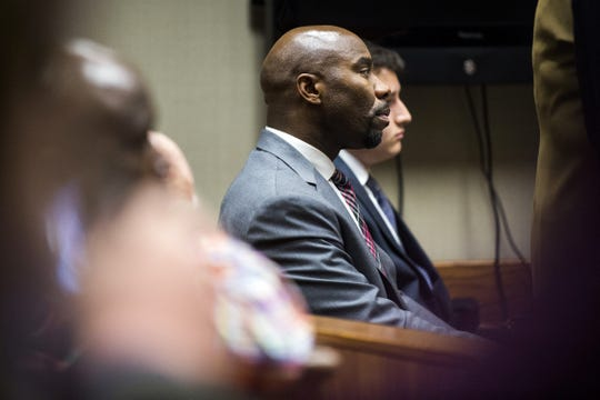 Mateen Cleaves listens to Genesee District Judge M. Cathy Dowd during the first day of preliminary examination of Cleaves on Tuesday, Nov. 15, 2016, at Genesee District Court in downtown Flint.