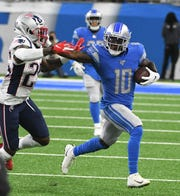 Lions wide receiver Brandon Powell leads the team in receptions, receiving yards and first downs during the preseason.