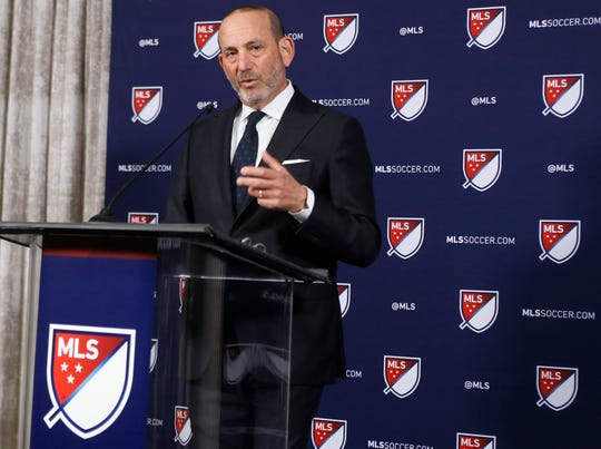 Major League Soccer Commissioner Don Garber, shown here in April, announced Tuesday that St. Louis has been awarded an expansion franchise.