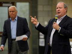 5 odd moments from Larry Bucshon's Evansville town hall | Webb