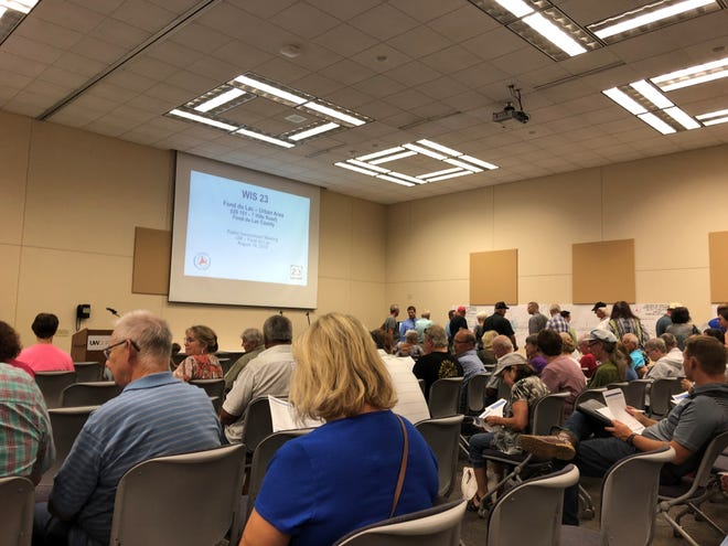 Residents gathered to share their thoughts on the State 23 project Monday, August 19, 2019 at the University of Wisconsin-Fond du Lac campus.