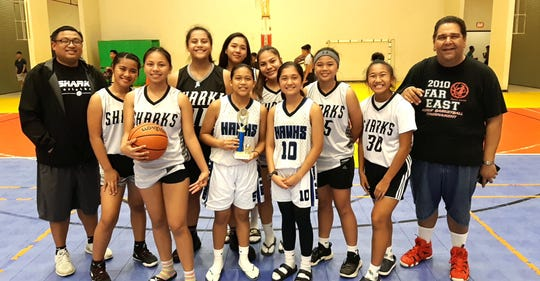 The Sharks earned third-place honors in the Under-18 Girls Division Monday night at the Guam Sports Complex Gym.