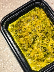 The Gollai Hagun Suni is a dish with spinach, coconut milk and turmeric.
