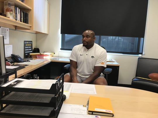 As the Hawkeyes prepare for the 2019 season, Broderick Binns is in his fourth year as the program's director of player development. A former Hawkeye player himself, Binns believes that experience helps him relate to the current athletes.