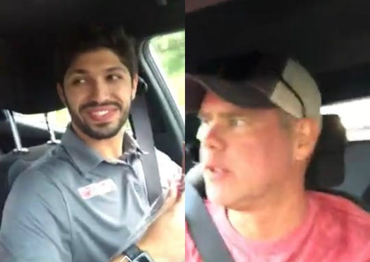 IndyCar racer Kyle Kaiser (left) was a passenger in the car as IndyCar announcer Jake Query got a speeding ticket.