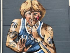 Larry Bird asks that tattoos be removed from mural of him in Fountain Square