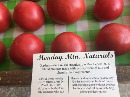 Fresh tomatoes from Deena Monday's garden.