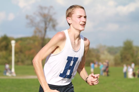 All-Stater Riley Hough leads a Hartland team that will make a run at a berth in the state cross country meet.