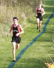 Zach Stewart (front) and Jack Spamer are returning all-state runners for Brighton.