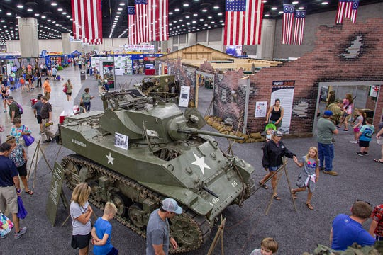 The educational exhibit at the Kentucky State Fair is about World War II.