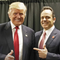 President Donald Trump and Gov. Matt Bevin pose for a photo in 2018.