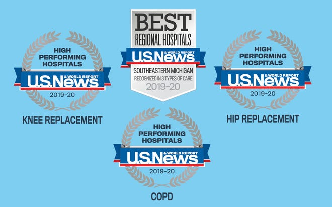 U.S. News & World Report recognizes McLaren Greater Lansing for top-ranked hip and knee replacement programs in the Lansing area.