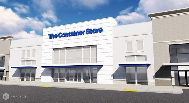 A rendering of the exterior of the new Germantown location of The Container Store. The store will celebrate its grand opening Sept. 14.