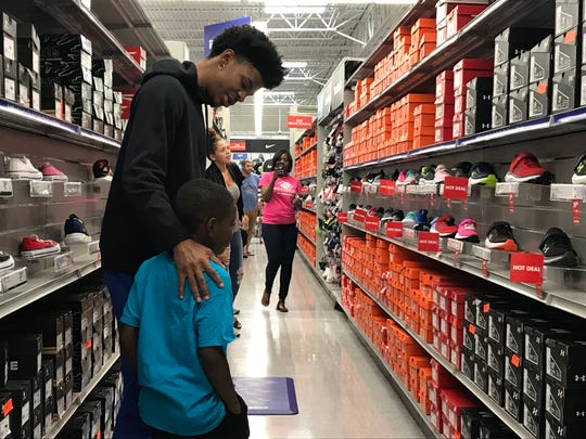 Grizzlies rookie point guard Ja Morant partnered with Academy Sports + Outdoors to send 25 children from a local chapter of the Boys and Girls Club on a shopping spree on Aug. 19, 2019.