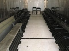 Like portable meat lockers, body recovery zones keep Memphis football team fresh at practice