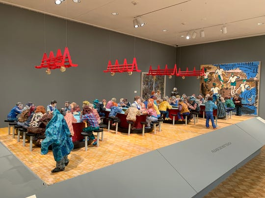 """Oriental Pharmacy Lunch Counter"" by Adolph Rosenblatt is on display at the Chazen Museum of Art."