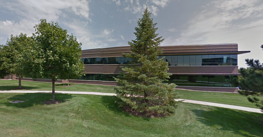 A two-story office building at Woodland Prime business park, in Menomonee Falls, will be part of a $100 million multi-building corporate campus for Milwaukee Electric Tool Co.