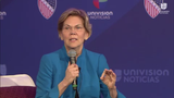 At the League of United Latin American Citizens convention in Milwaukee on July 11, 2019, Democratic candidate Elizabeth Warren references the idea that health providers don't care equally between physical and mental health.