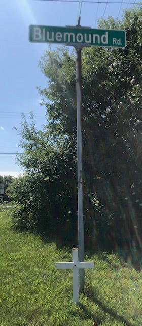 Jose R. Hernandez, 50, of Milwaukee was struck and killed while crossing Blue Mound Road on Aug. 17 in Elm Grove. A makeshift cross was placed at the spot where he died.