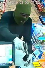 Police are seeking the identity and location of a suspect in an armed robbery at the Sunoco gas station on Carmichael Road.