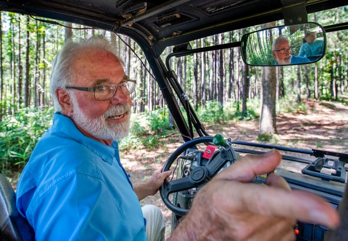John Pirtle, of Pirtle Forestry Services, on his tree farm near Billingsley, Ala., on Thursday August 15, 2019.