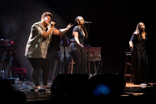 Brittany Howard performs at the Ryman Auditorium in Nashville, Tenn., Monday, Aug. 19, 2019.