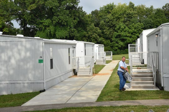 Over a dozen portables were installed on the campus of Oak View Elementary to temporarily house students that will be attending the new Creekside Elementary, currently under construction on Gosey Hill Road, in January.