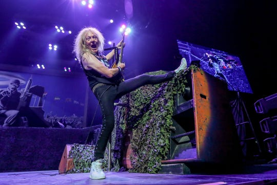 Iron Maiden performs Aug. 19, 2019 at Bridgestone Arena in Nashville, Tennessee.