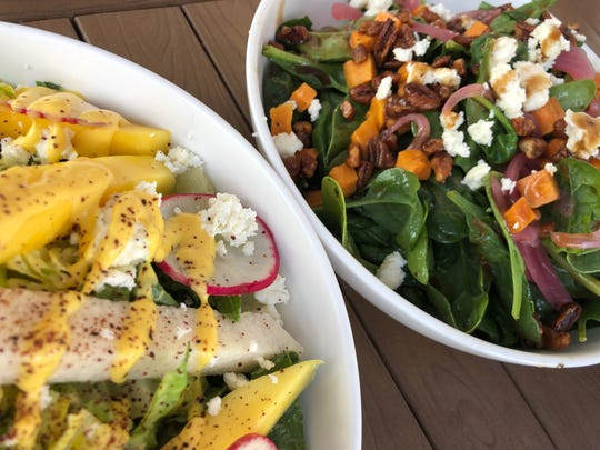 The mango salad ($7.95) and sweet potato salad ($7.95) from Turco Taco in downtown Naples.