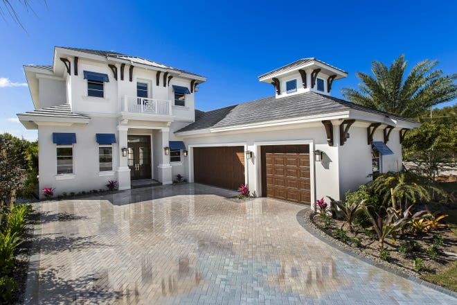 The furnished Grenada model is now open for viewing and purchase at Windward Isle just south of Orange Blossom Drive on Airport-Pulling Road in North Naples.