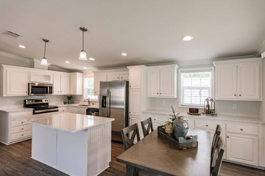 The Dolphin model manufactured home offers a 955 square foot open floorplan.
